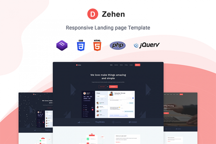 Zehen - Landing Page Template