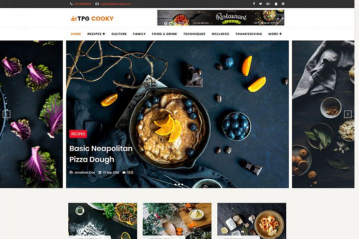 TPG Cooky WordPress Food Blog Theme