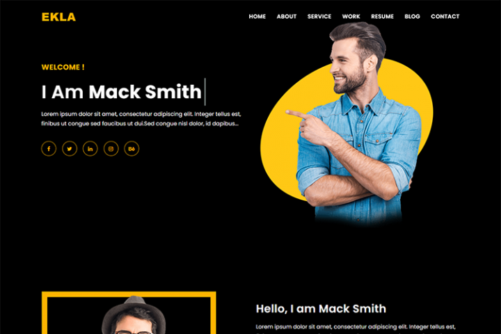 Home Page Header Design Template
