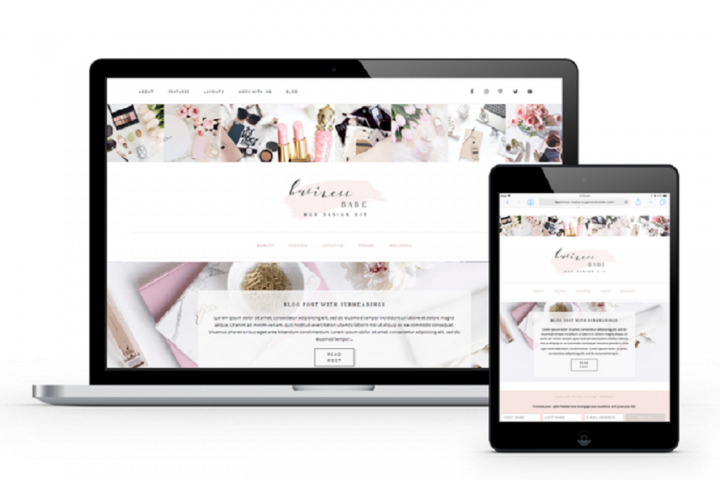Business Babe Feminine WordPress Theme