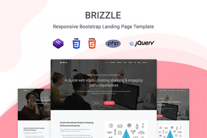Brizzle - Landing Page Template