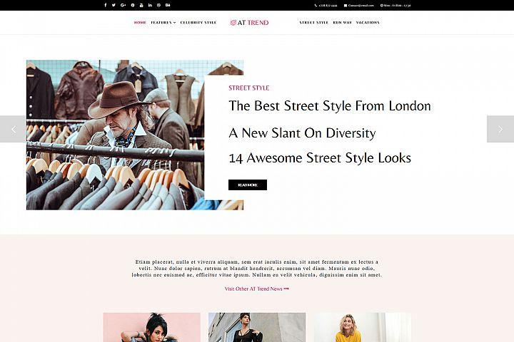 AT Trend Responsive Fashion Magazine Joomla theme