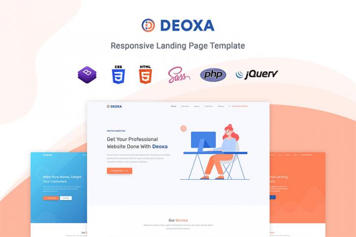 Deoxa - Landing Page Template