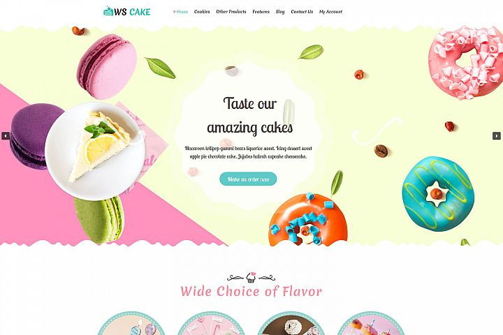 WS Cake Responsive Wordpress theme