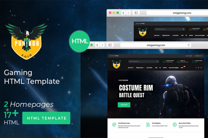 Punibor Gaming HTML Template