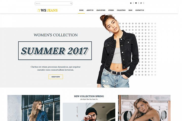 WS Jeans Responsive Clothing wordpress theme