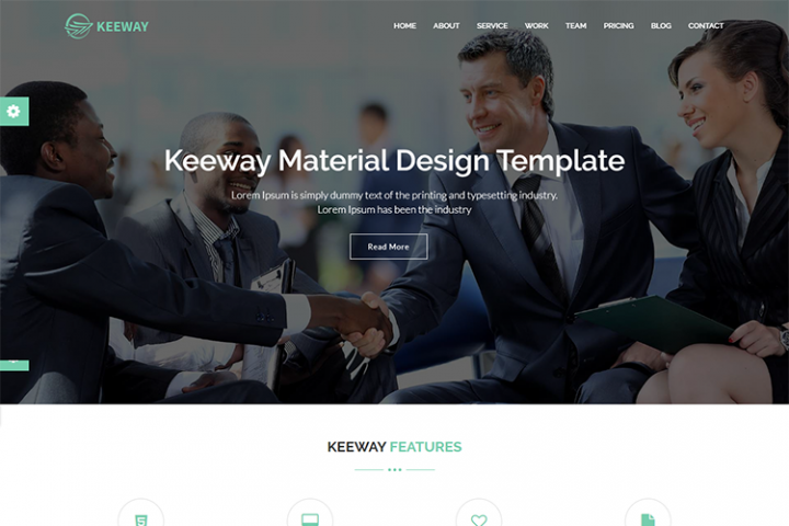 Keeway Material Design Agency Template