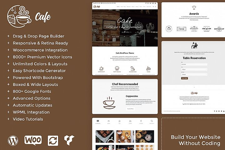 Cafe - Coffee Shop WordPress Theme