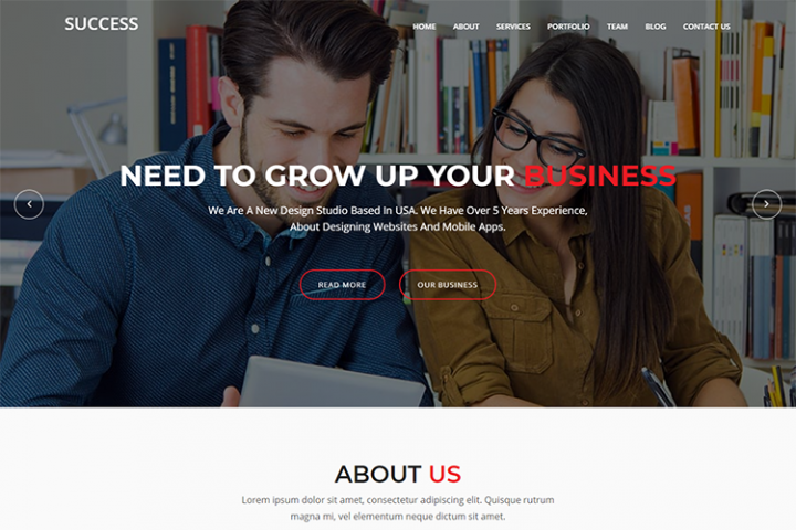 Success - Material Design Agency Template