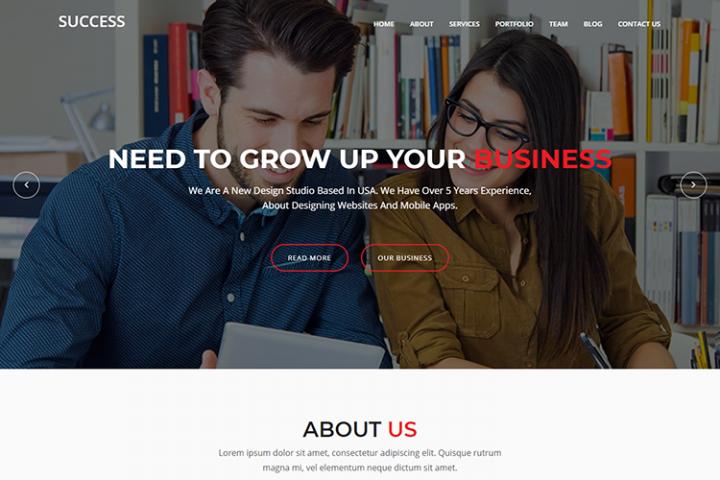 Success - Material Design Agency Template
