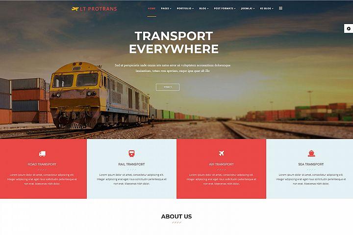 LT ProTrans - Joomla Transport Website Template