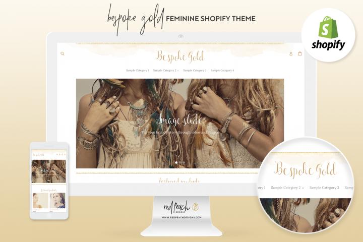 Bespoke Gold Feminine Responsive Shopify Theme