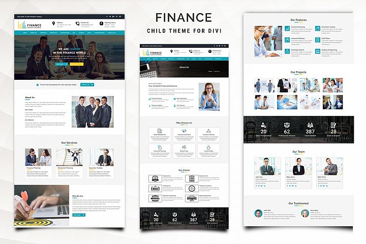 Finance Child Theme for Divi