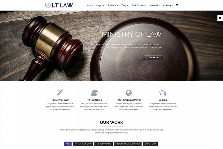 LT Law - Premium Responsive Joomla Law Firm template