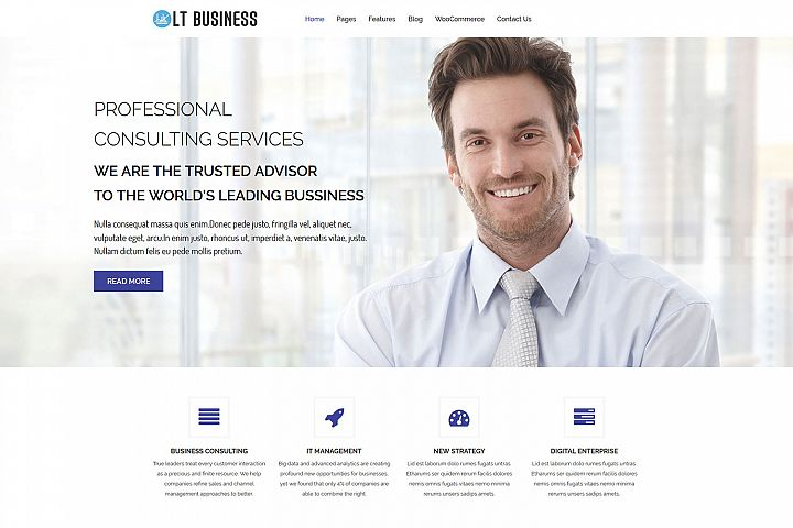 LT Business - Responsive Corporation WordPress Theme