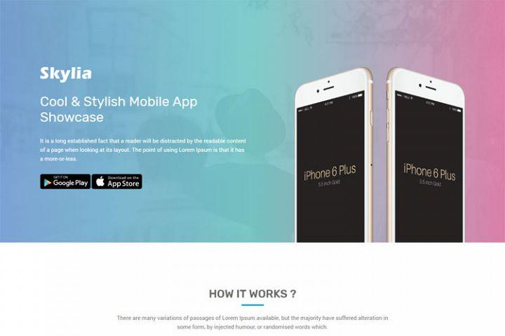 Skylia - Responsive App Landing Template