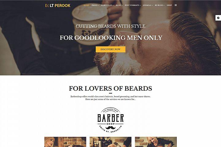 LT Perook - Premium Joomla Barber Shop template