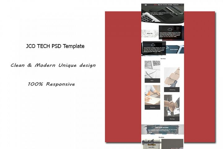 JCO TECH PSD Template