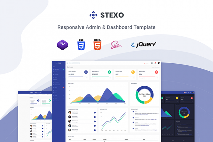 Stexo - Admin & Dashboard Template