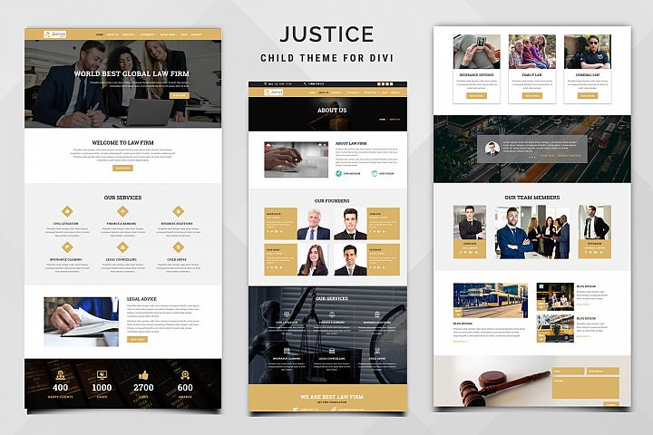 Justice Child Theme for Divi