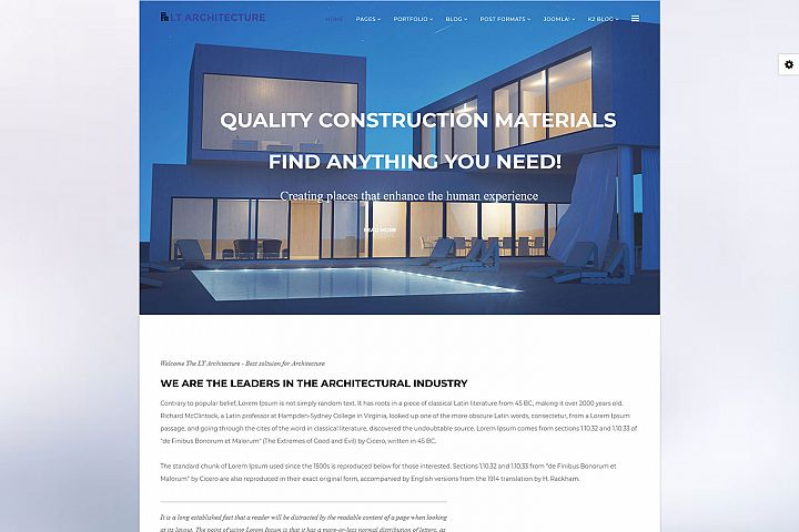 LT Architecture - Premium Joomla Architecture template