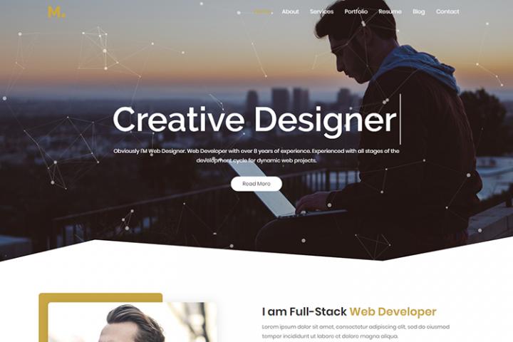 Mira - Creative Resume/Portfolio HTML5 Template