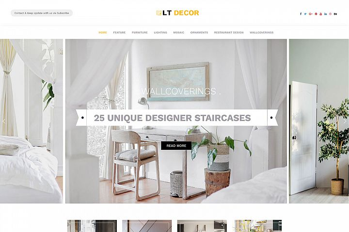 LT Decor - Premium WordPress Interior Decorating Themes