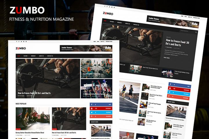 Zumbo Modern Fitness & Nutrition Magazine Theme