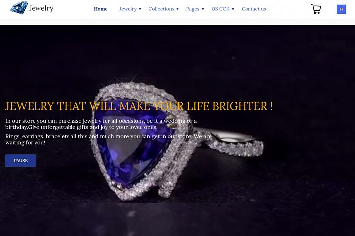 Jewelry Joomla eCommerce template