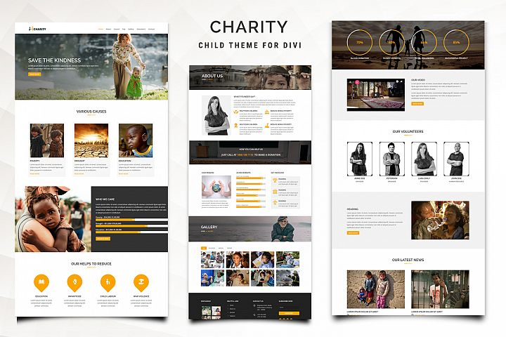 Charity Child Theme for Divi