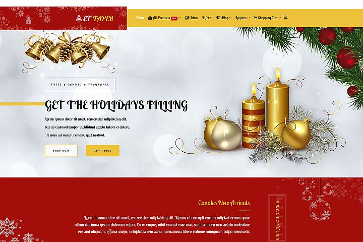 ET Taper Responsive Christmas Candle Website Template
