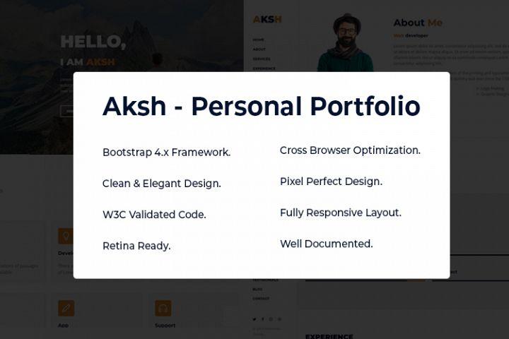 Aksh - Personal Portfolio
