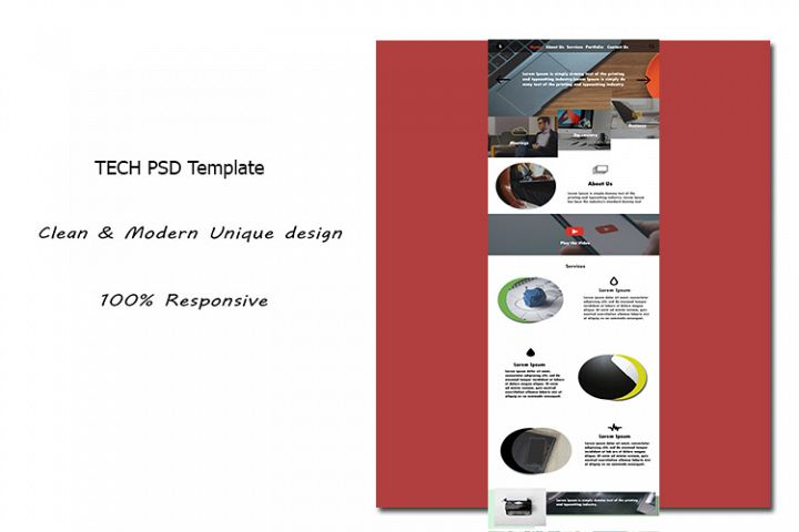 TECH PSD Template
