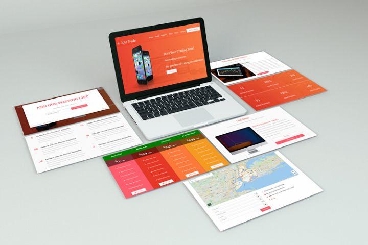Wst Trade Landing Website Template