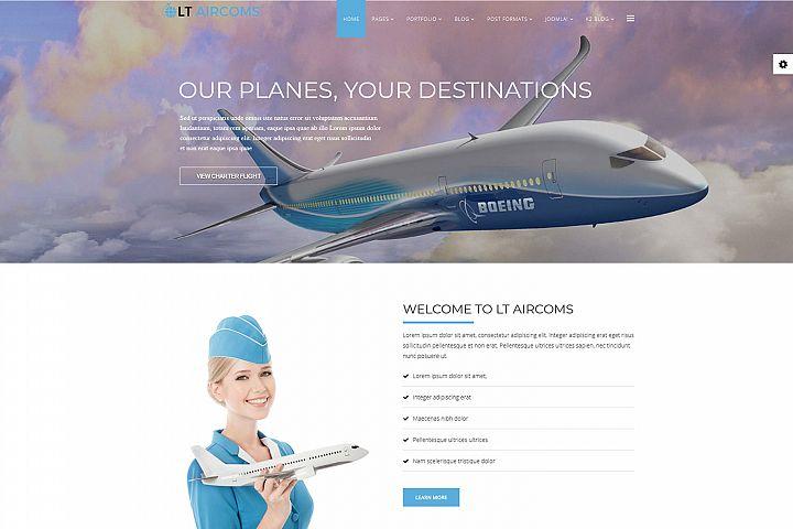 LT Aircoms - Premium Responsive Joomla Aviation Template