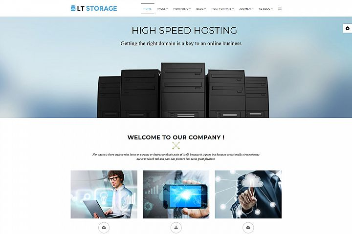 LT Storage - Premium Responsive Joomla Web Hosting Template