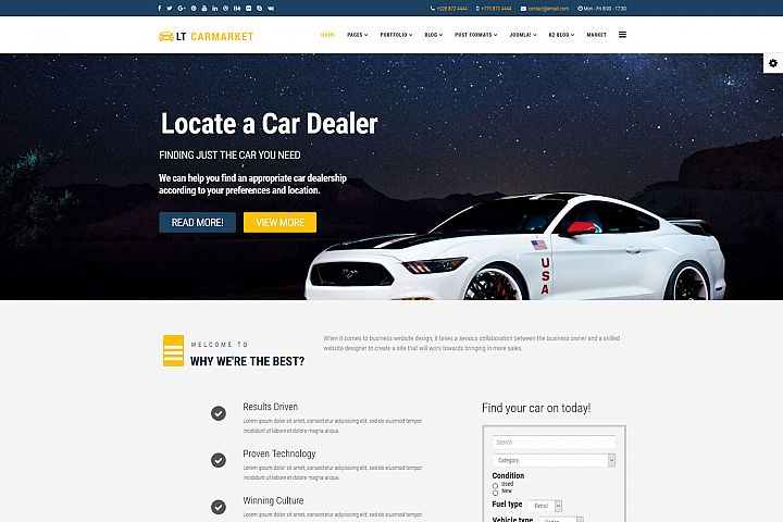 LT Carmarket - Premium Joomla Car For Sale template