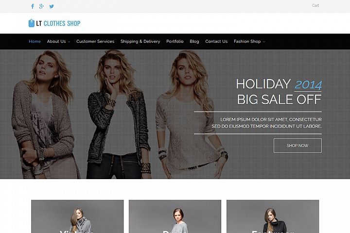 LT Clothes Shop - Premium Responsive Clothes Shop WordPress