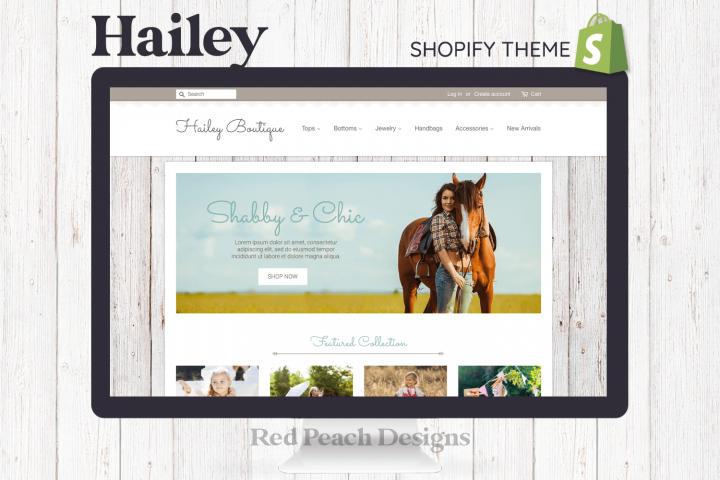 Hailey Feminine Responsive Shopify Theme