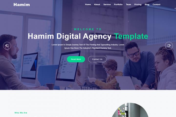 Hamim Digital Agency One Page HTML Template