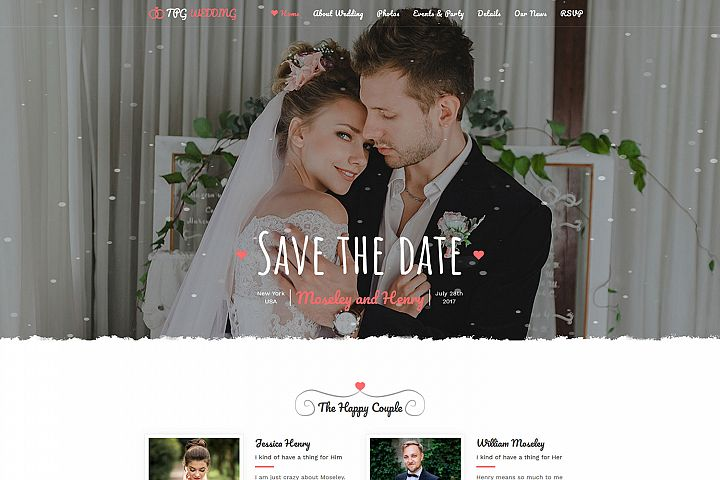 TPG Wedding Marriage WordPress Theme