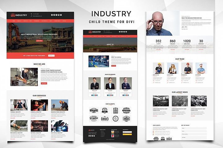 Industry Child Theme for Divi