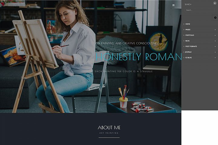 LT Artist - Responsive Premium Private Joomla Art Templates