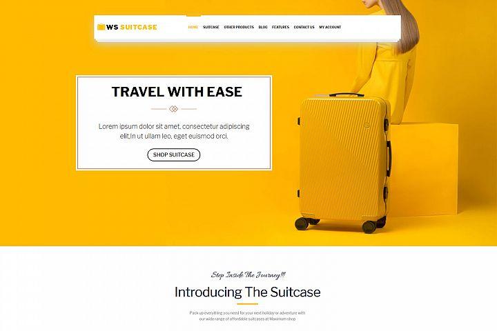 WS Suitcase - Wordpress Travel Bag template