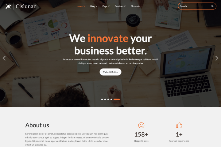 Cislunar - Business and Corporate HTML Template