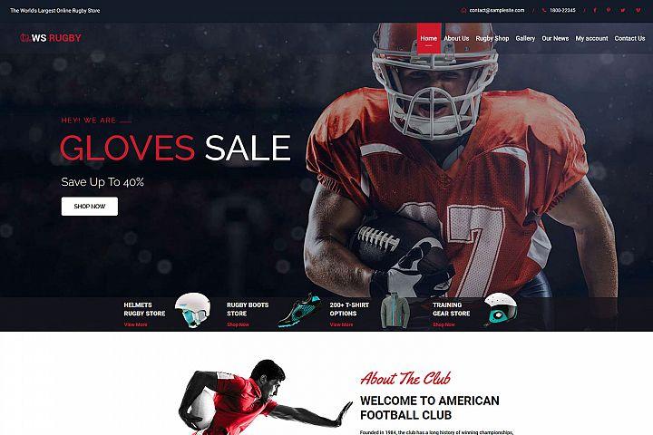 WS Rugby Woocommerce WordPress Football theme