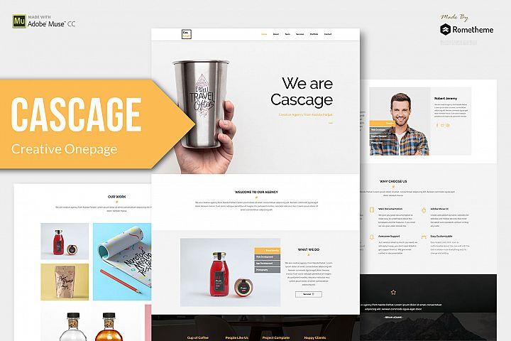 Cascage - Adobe Muse Template