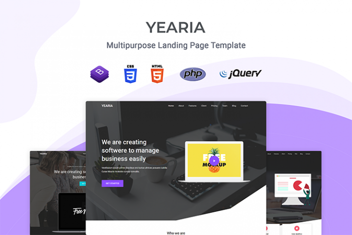 Yearia - Multipurpose Landing Page Template
