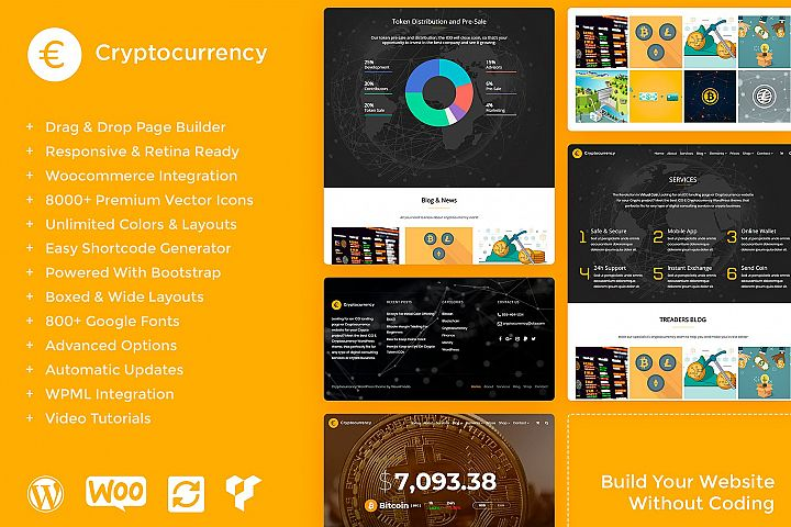 Cryptocurrency - Crypto Responsive WordPress Theme