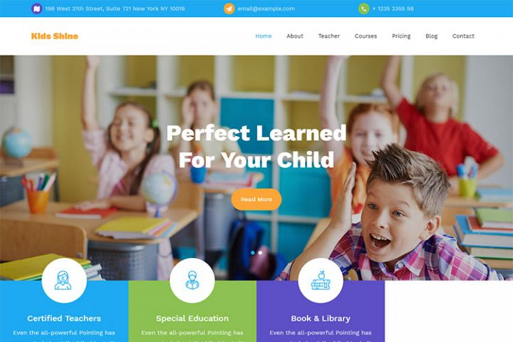 Kids Shine Multipurpose Primary School Template